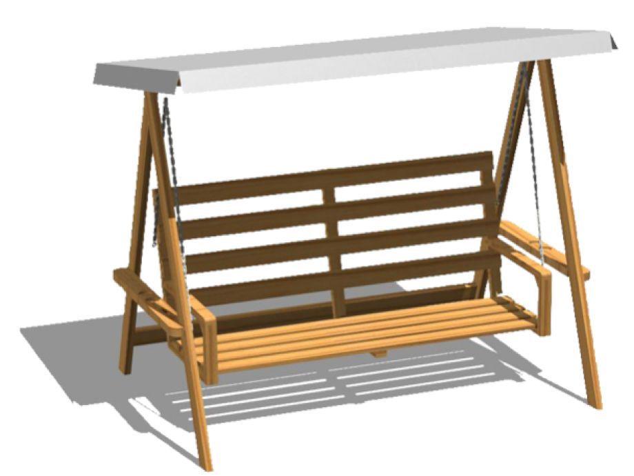 Dondolo Da Giardino In Legno : Dondolo da giardino in legno autoportante legnolandia