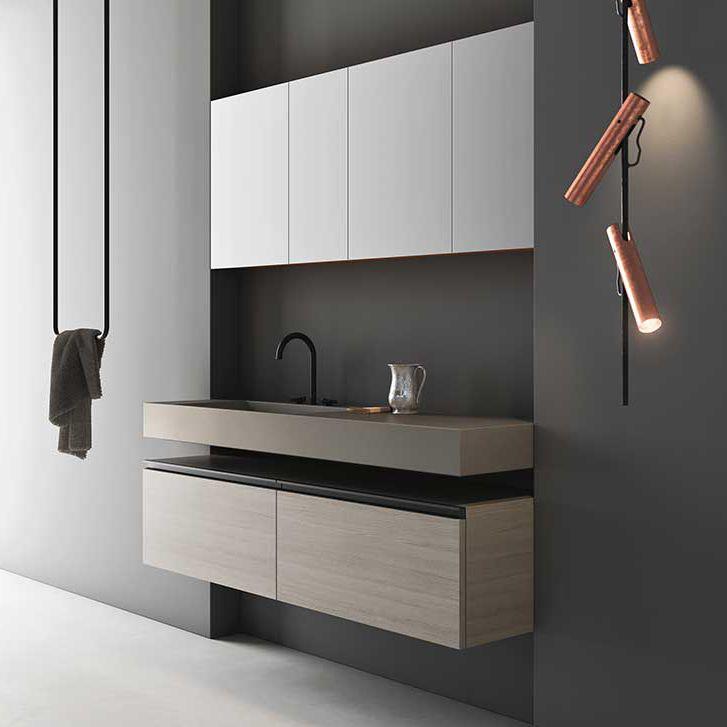 Mobile lavabo sospeso / in legno / moderno / in kit - OPERA by Willy ...