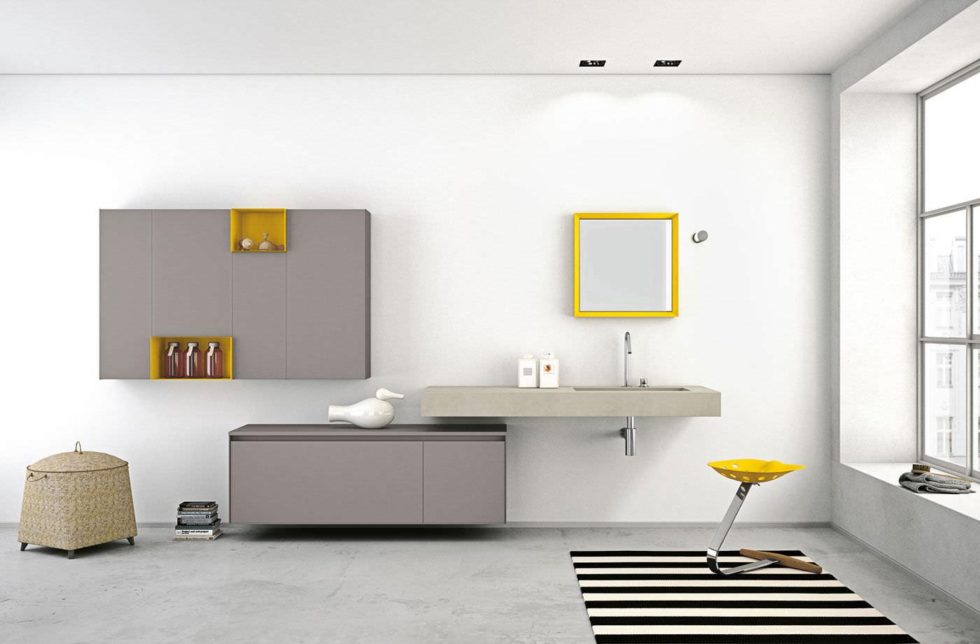 Mobile basso da bagno / da parete - ARIA by Willy Dalto - ALTAMAREA