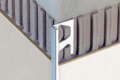 Profilo di finitura in alluminio per piastrelle dritto