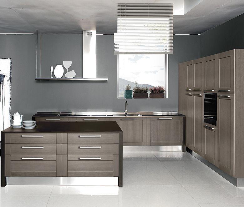 Cucina moderna / in legno / con isola / ecologica - LICIA - ARAN Cucine