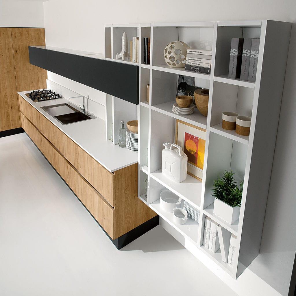 Mensola / moderno / in legno laccato / da cucina - VOLARE - ARAN Cucine