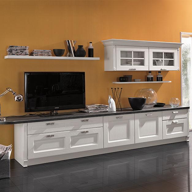 Mobile porta TV classico / in legno laccato - IMPERIAL - ARAN Cucine