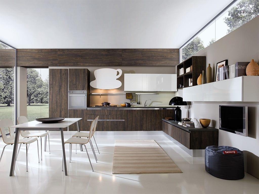 Cucina moderna / in Fenix NTM / ecologica / lucida - ERIKA - ARAN Cucine