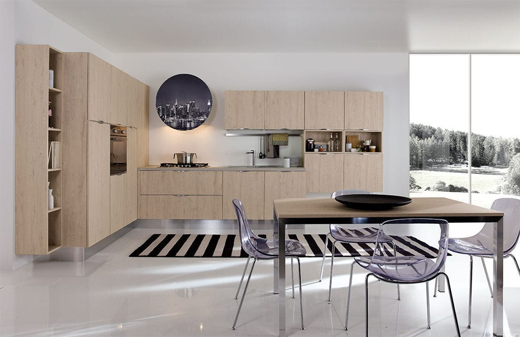 Cucina moderna / in Fenix NTM / ecologica / lucida - ERIKA - ARAN ...