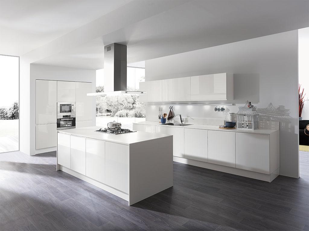 Cucina moderna / in melamminico / con isola / laccata - MASCA ...