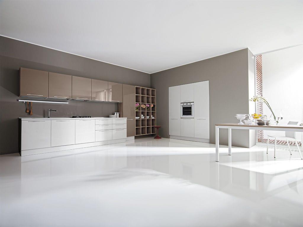 Cucina moderna / in laminato / polimerica / con isola - TERRA ...