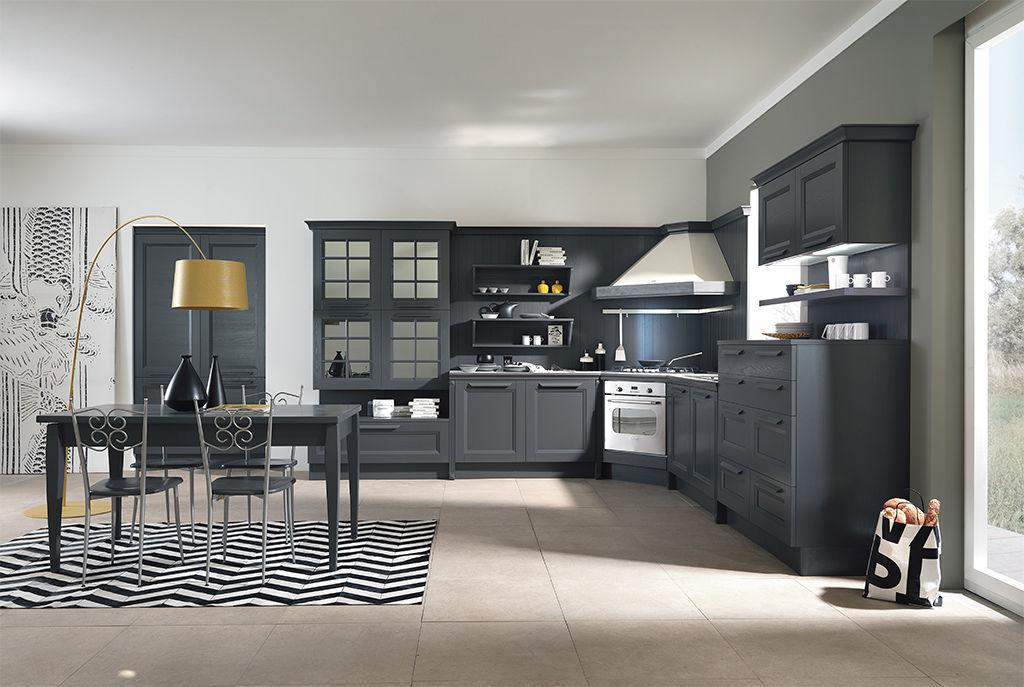 Cucina classica / in legno / con isola / ecologica - YLENIA - ARAN ...