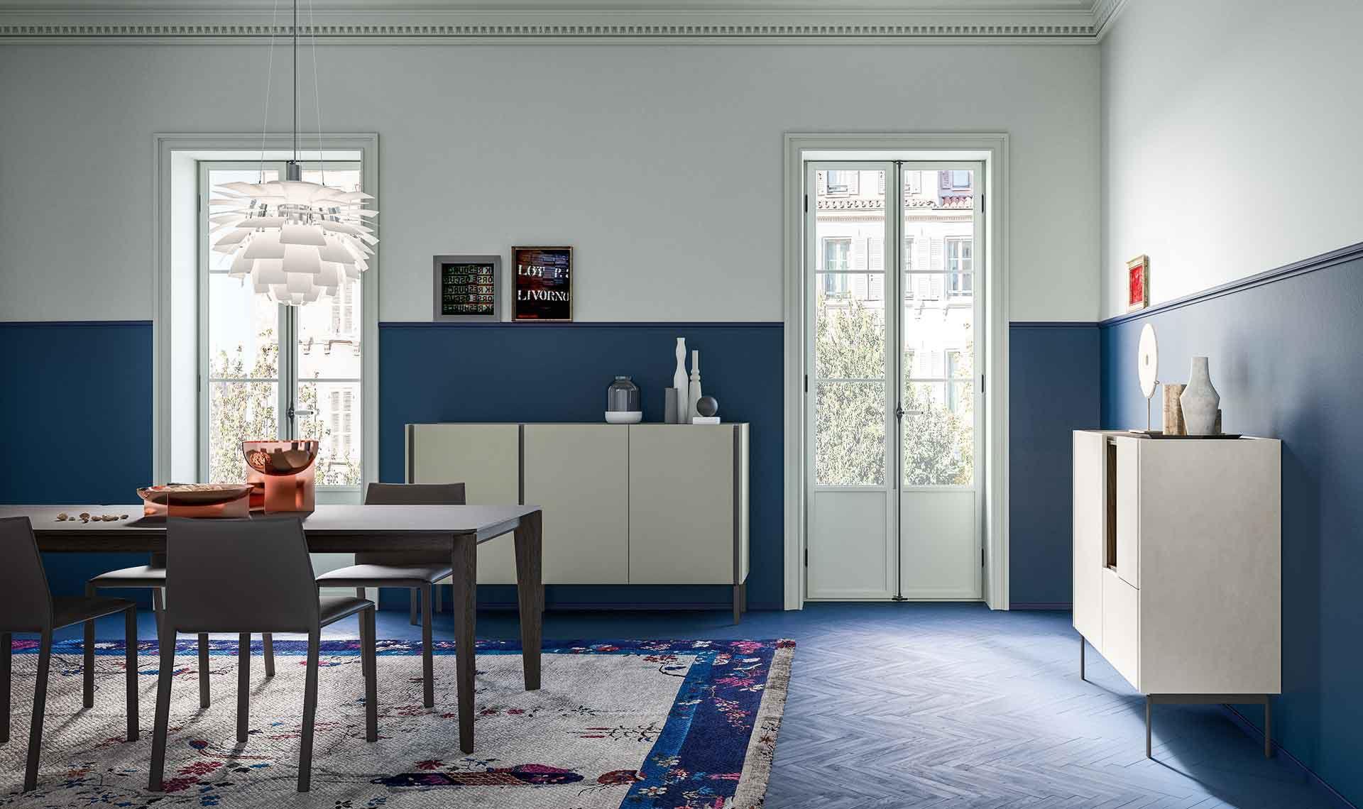 Credenza Da Design : Credenza a muro moderna in legno laccato metallo da do by