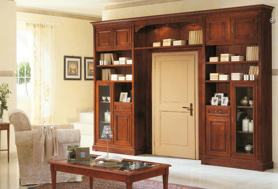 Libreria classica in legno art.201 arte antiqua di zen adriano