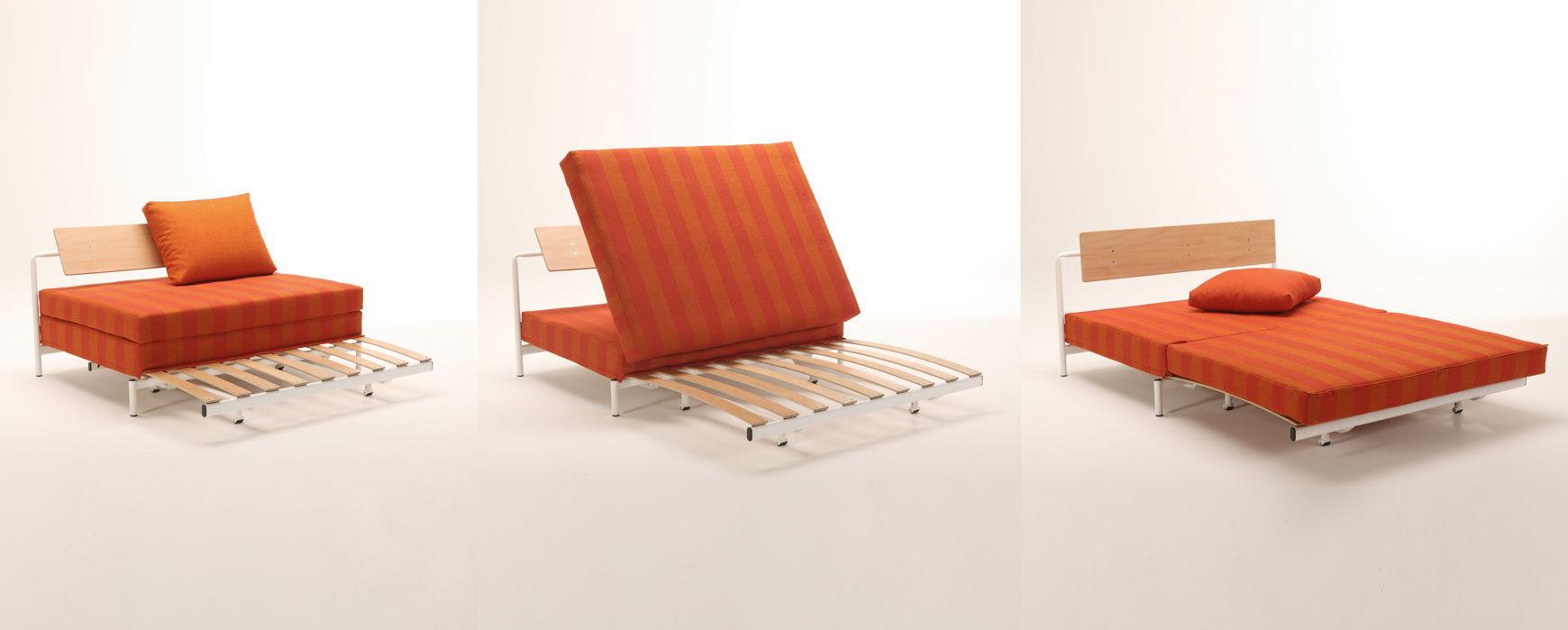 Divano letto / moderno / 3 posti / con rivestimento rimovibile ...