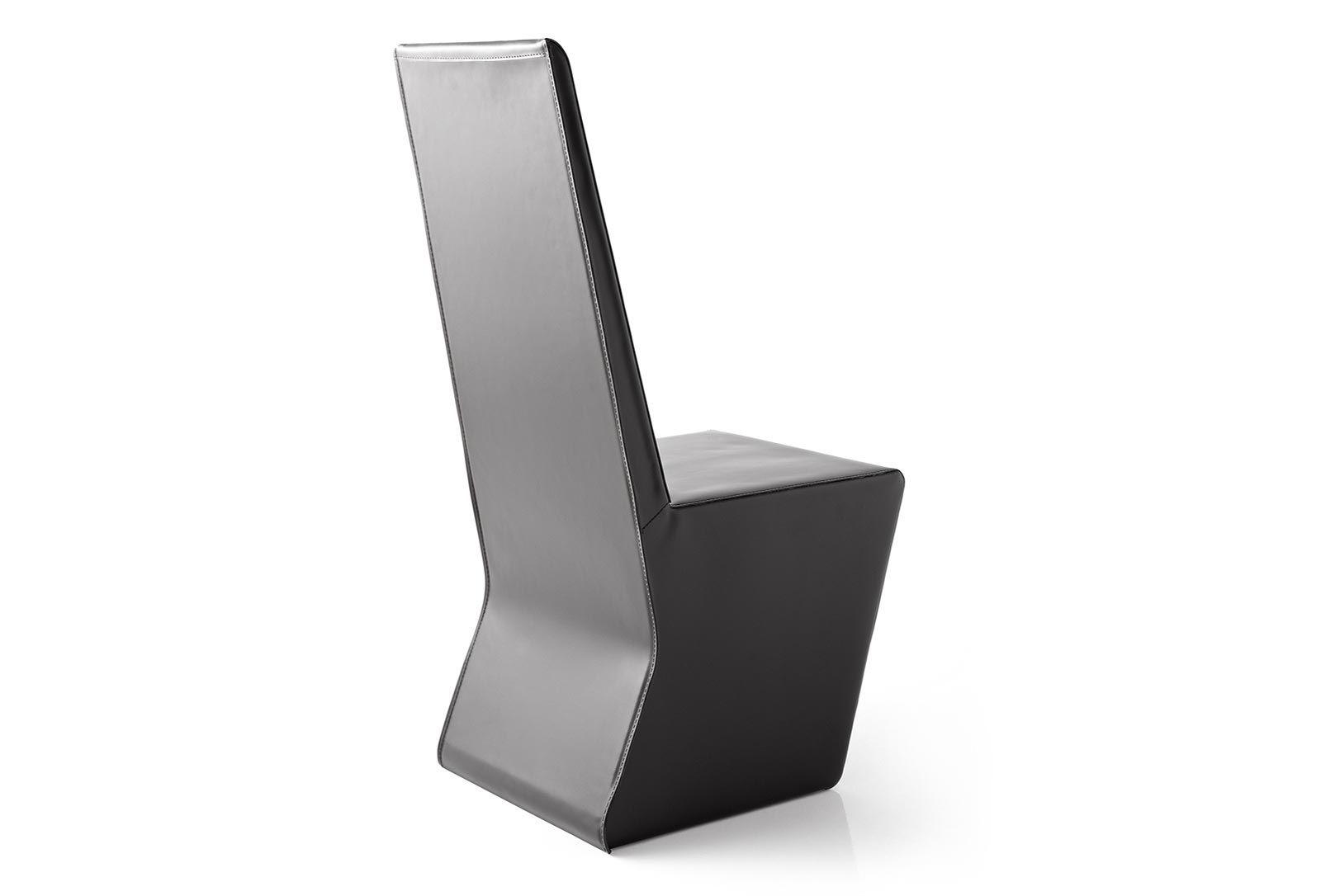 Sedie A Rotelle Schienale Alto : Sedia moderna a schienale alto in pelle per uso contract