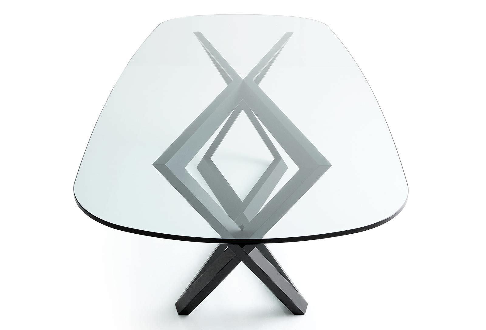 Tavolo moderno / in vetro / in quercia / ovale - BRIDGET by Marco ...