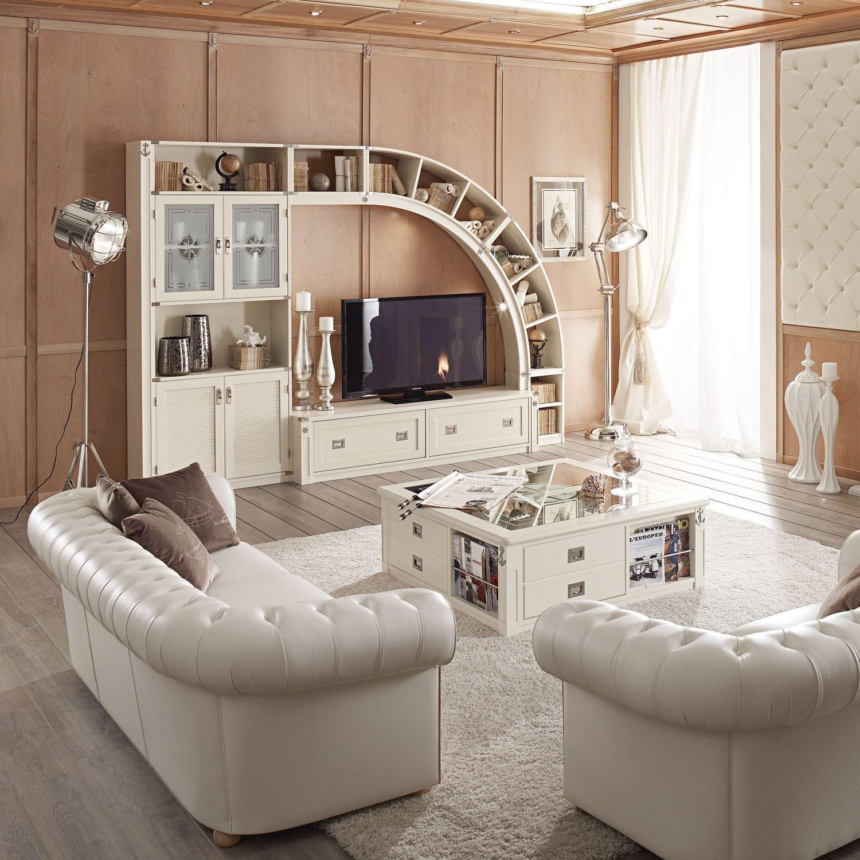 Parete attrezzata TV classico / in legno / in vetro - 848 - DEMÌ ...