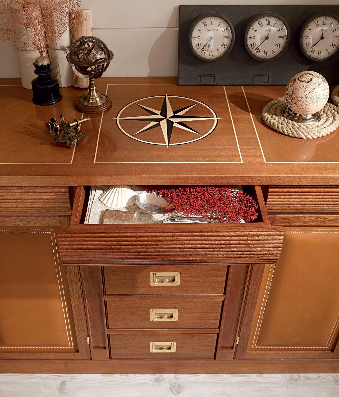 Credenza in stile marinaro / in legno - 726 - Caroti