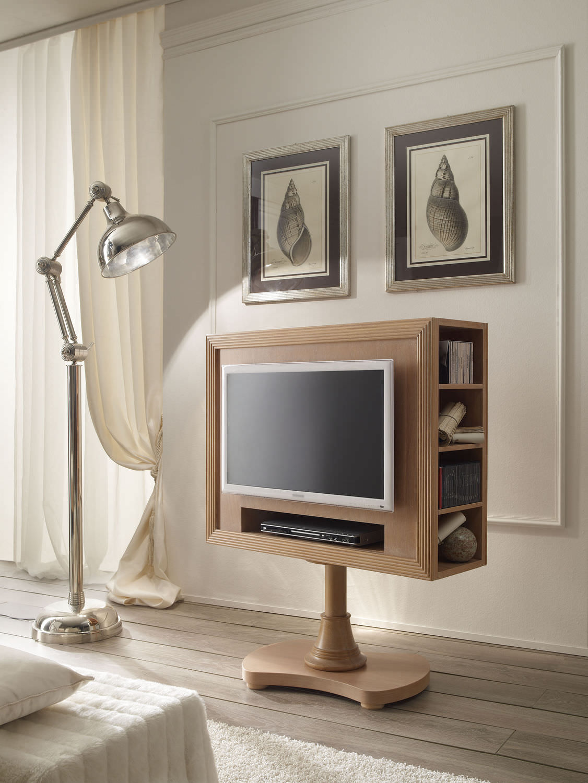 Mobile porta TV classico / girevole / in legno - 663 - Caroti