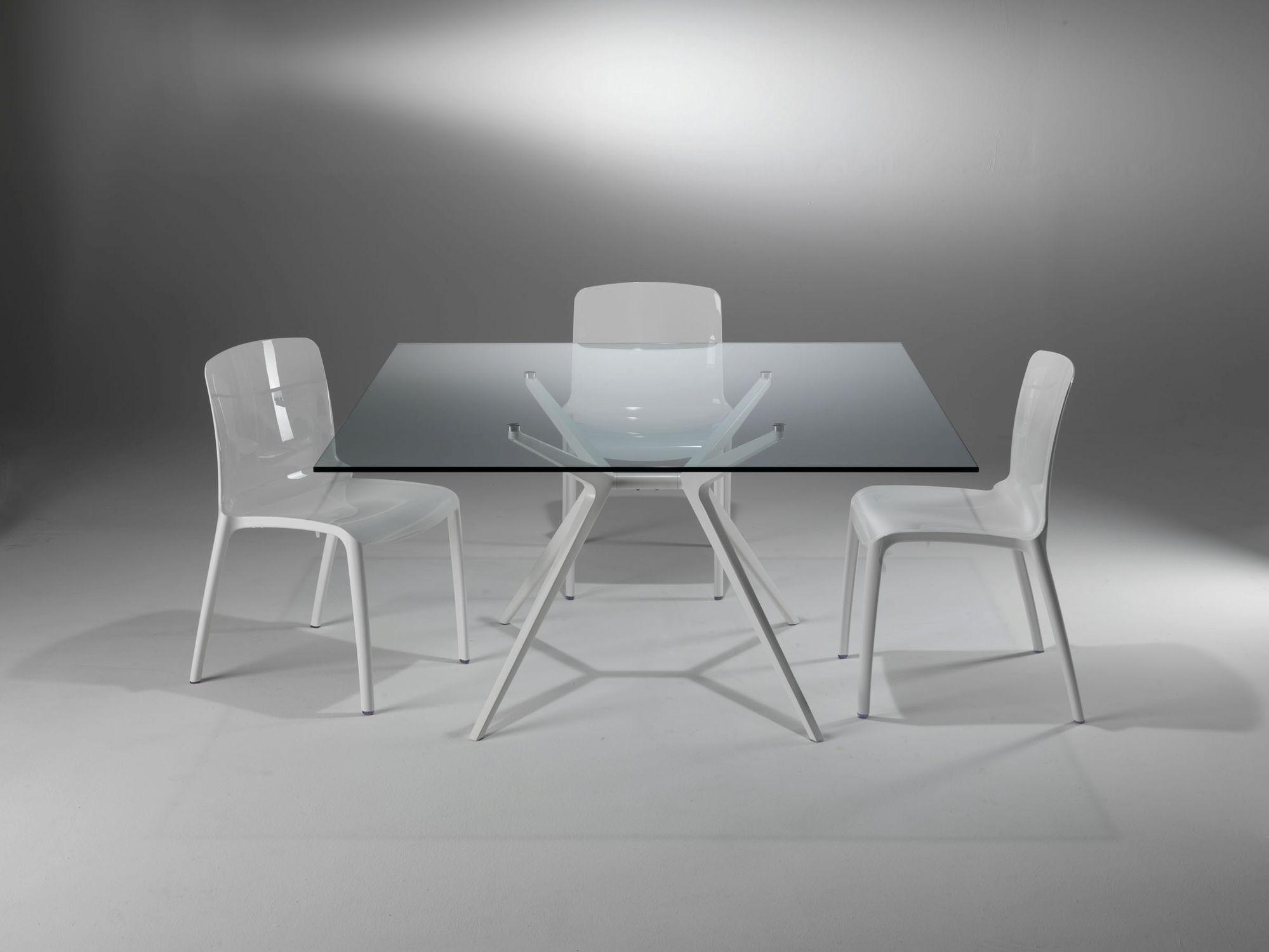 Tavolo Industriale Quadrato : Tavolo moderno in vetro rettangolare quadrato ex by jorge