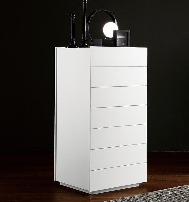 Cassettiera moderna / in legno laccato / bianca - LINEA - Fimes dei ...