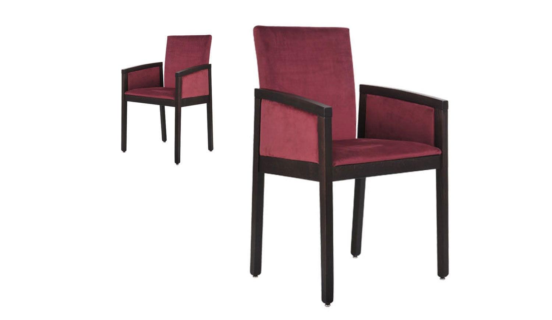 Sedia Imbottita Con Braccioli : Sedia moderna imbottita con braccioli in faggio bip