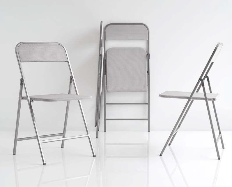 Sedia moderna / pieghevole / in metallo - ZIPPY - Olivo & Godeassi