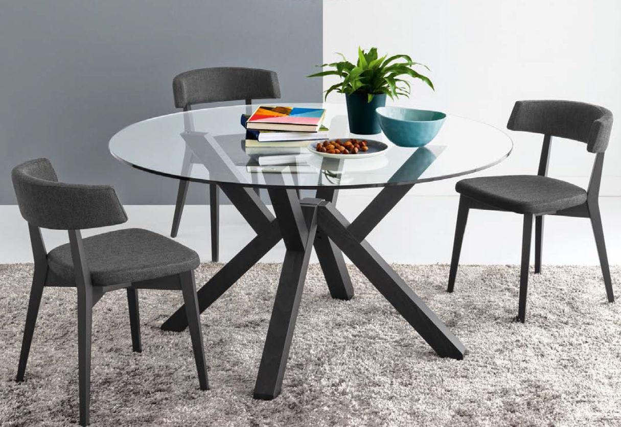 Tavolo moderno / in vetro / rotondo / da interno   mikado   olivo ...