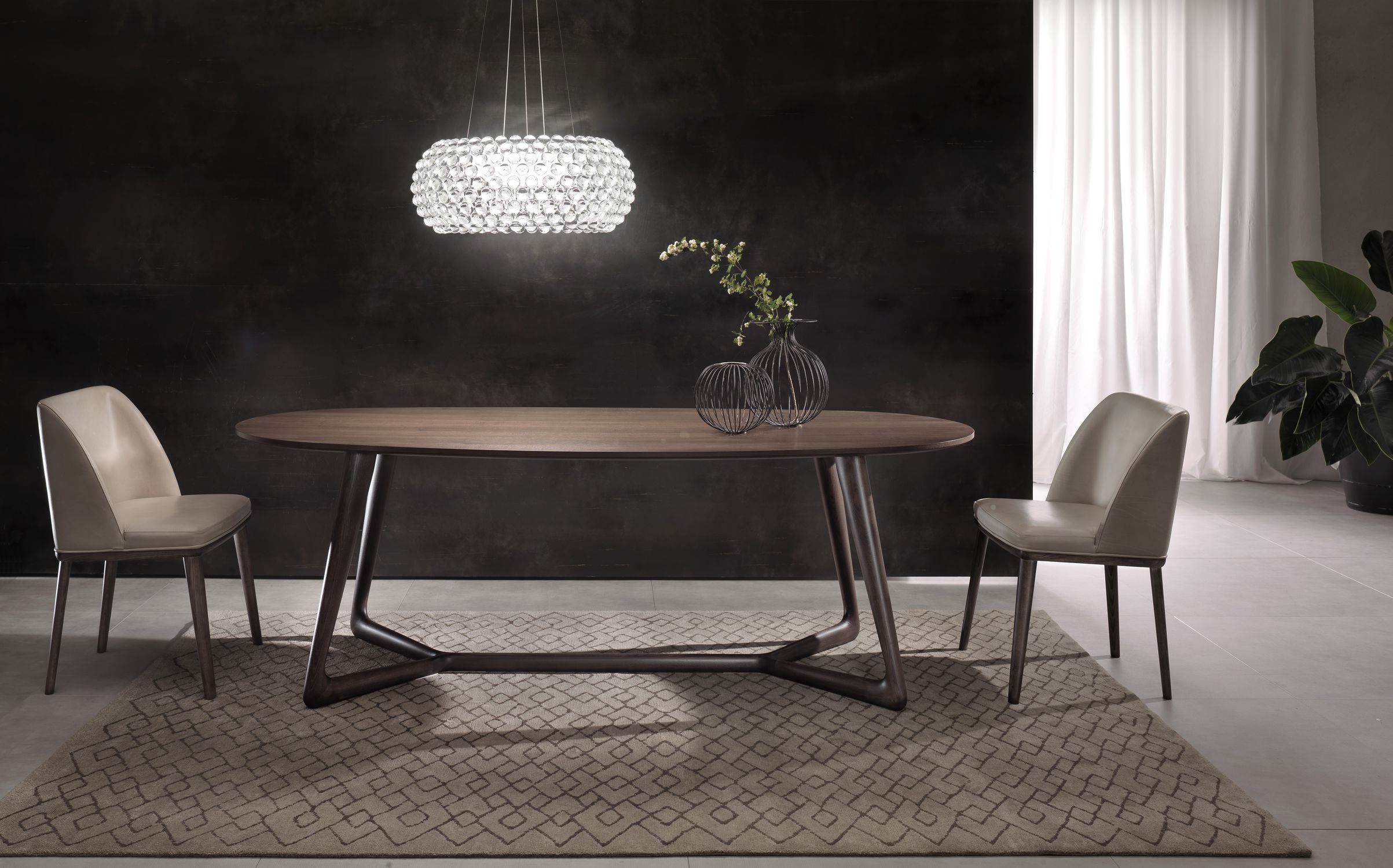 Tavolo moderno / in legno / ovale - COVER - Pacini & Cappellini