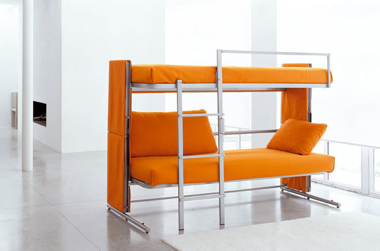 Divano letto / moderno / in metallo / 2 posti - DOC by Giulio ...
