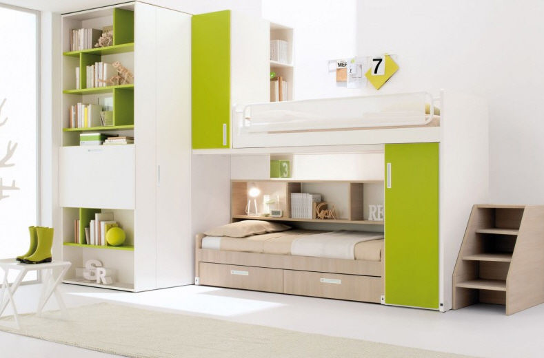 Cameretta Verde Per Bambino Unisex Start 01 Clever