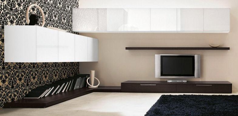 Parete attrezzata per soggiorno moderna - LIVING 018 - Clever