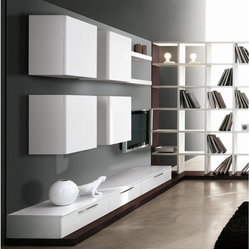 Parete attrezzata per soggiorno moderna - LIVING 026 - Clever