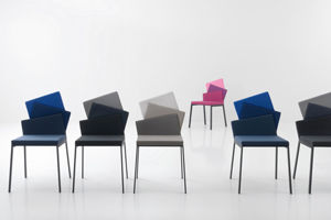Sedie Blu Elettrico : Sedia design originale in tessuto karina compar