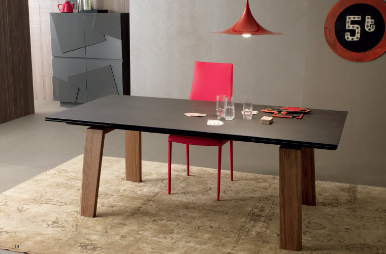 Tavolo moderno in legno rettangolare allungabile frau compar