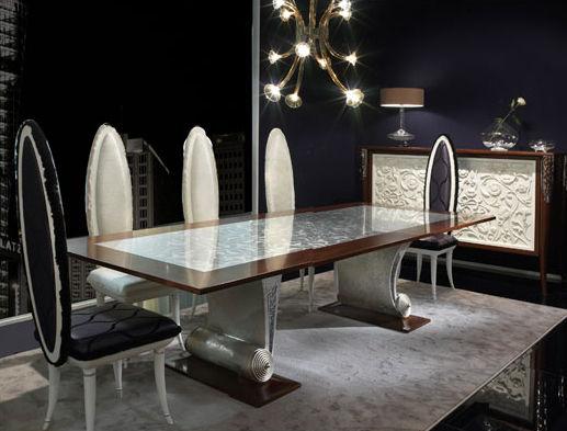 Sedia Design Nuovo Barocco In Tessuto Saraya Elledue