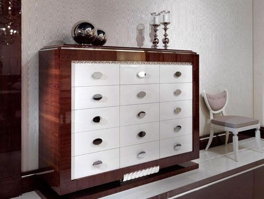 Credenza Alta Art Deco In Legno Il Novecento Elledue