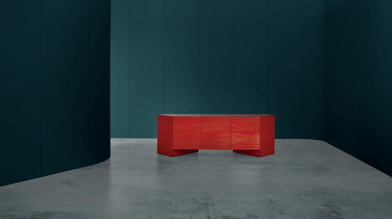 Credenza Moderna Rossa : Credenza moderna in legno di ferruccio laviani rossa