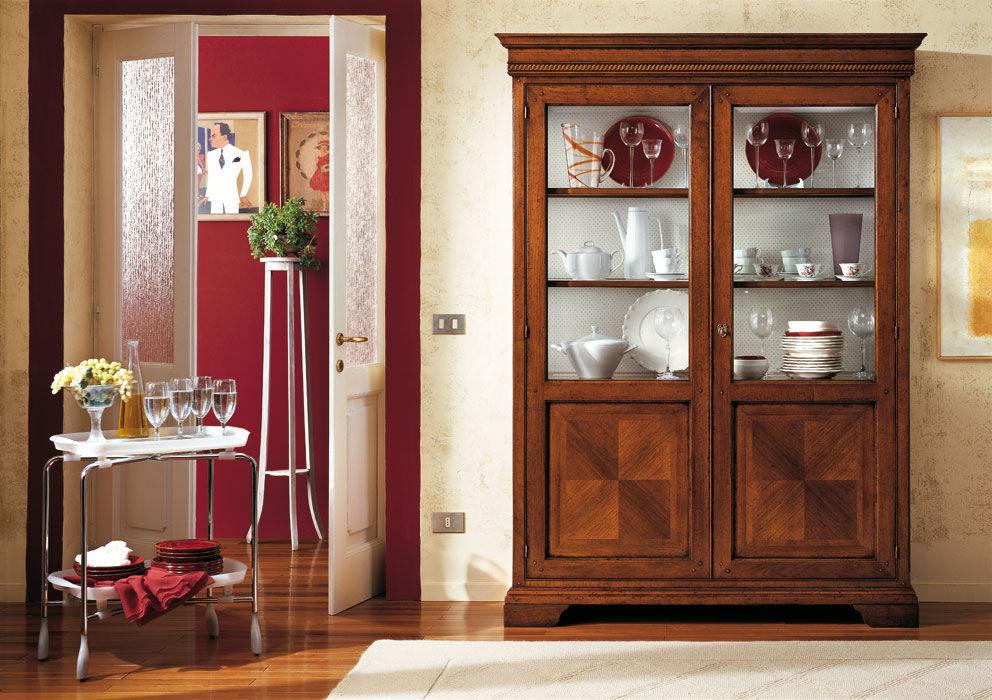 Credenza Con Alzata Classica : Credenza con alzata classica in legno giorgione f m bottega