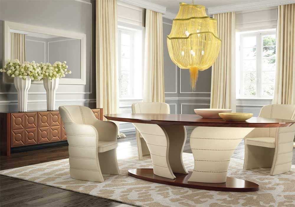 Tavolo da pranzo moderno / in legno / ovale - TULIP - Formenti