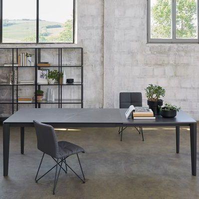 Tavolo moderno / in metallo / in pietra / rettangolare - T77 ...