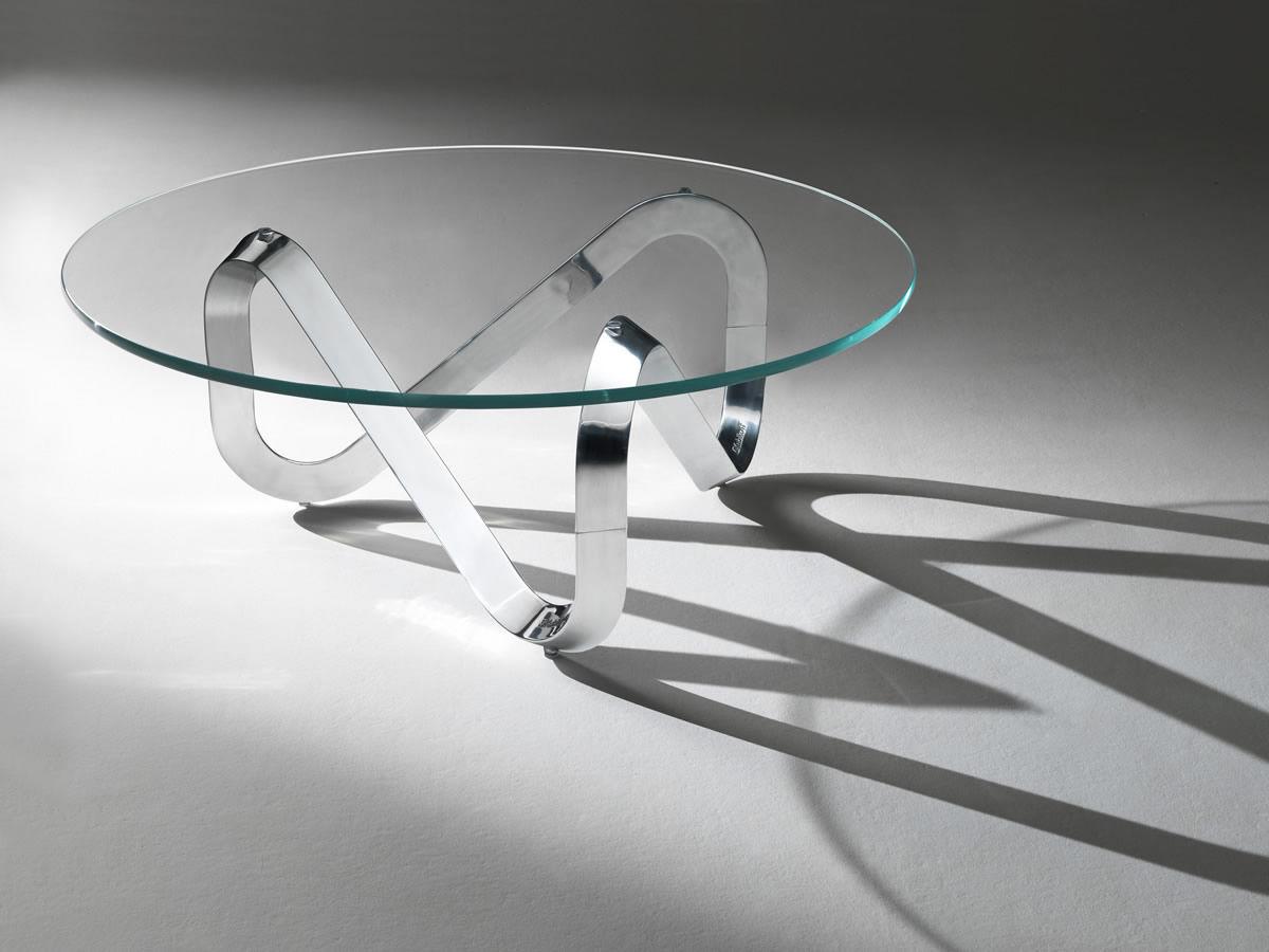 Tavolino basso moderno / in vetro / tondo / da interno - LIBRA by ...