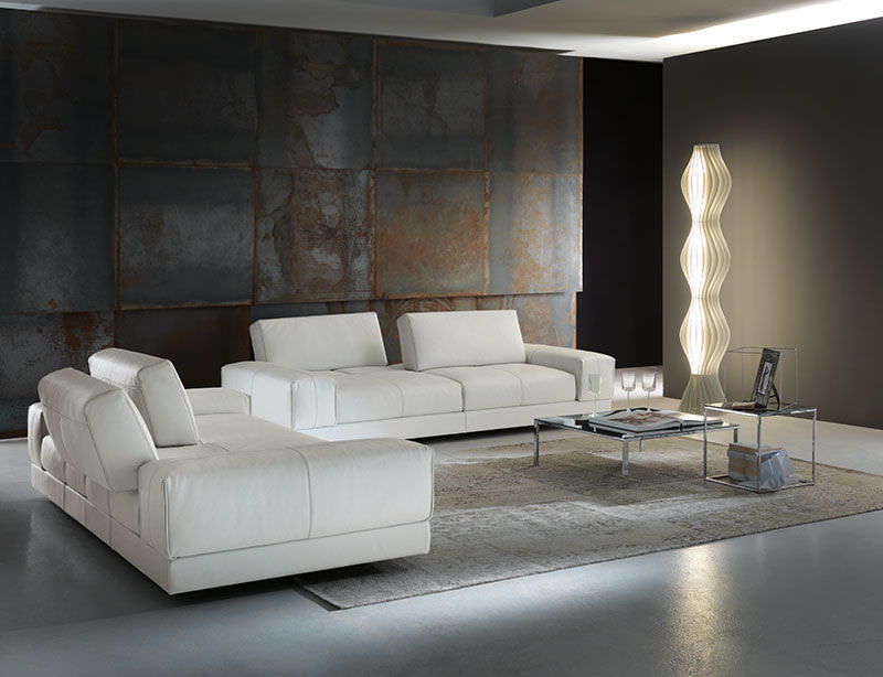 Divano modulare / d'angolo / moderno / in tessuto   open space by ...