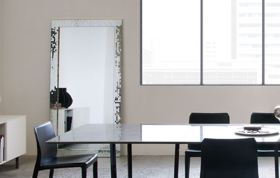 Specchio a muro da terra per camera da letto da sala mosaic