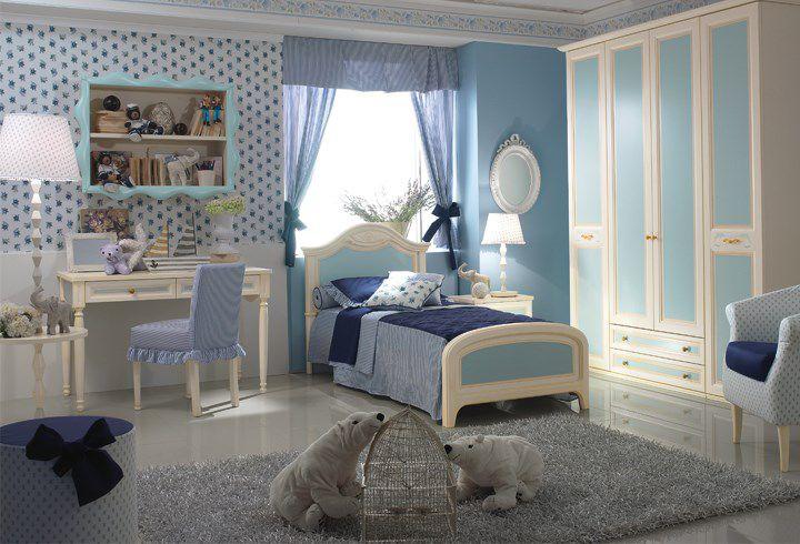 Cameretta Bianca E Azzurra : Cameretta bianca per bimbo kocca vk pensarecasa