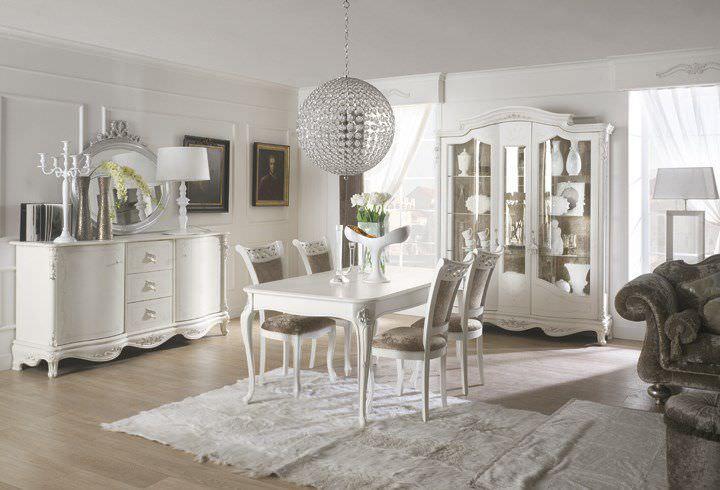 Tavolo da pranzo classico / in legno laccato / rettangolare - ALTO ...