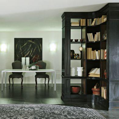 Libreria ad angolo / classica / in noce - ART 920 - Bertelè