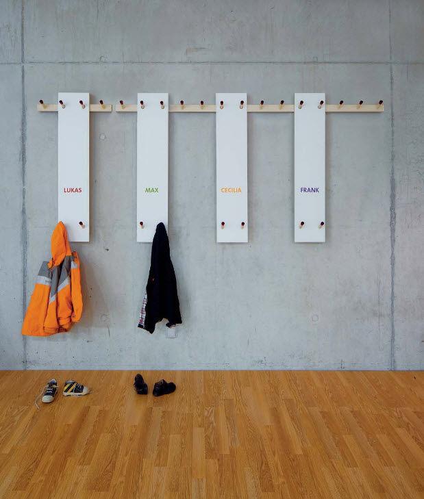 Appendiabiti a muro / moderno / in legno - REICHENBEISPIEL by Nils ...