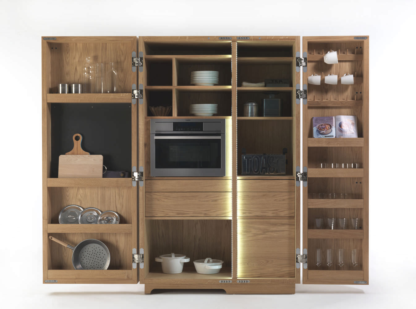 Credenza Per Cucina Moderna : Mobile alto per cucina moderno in legno cambusa by giuliano