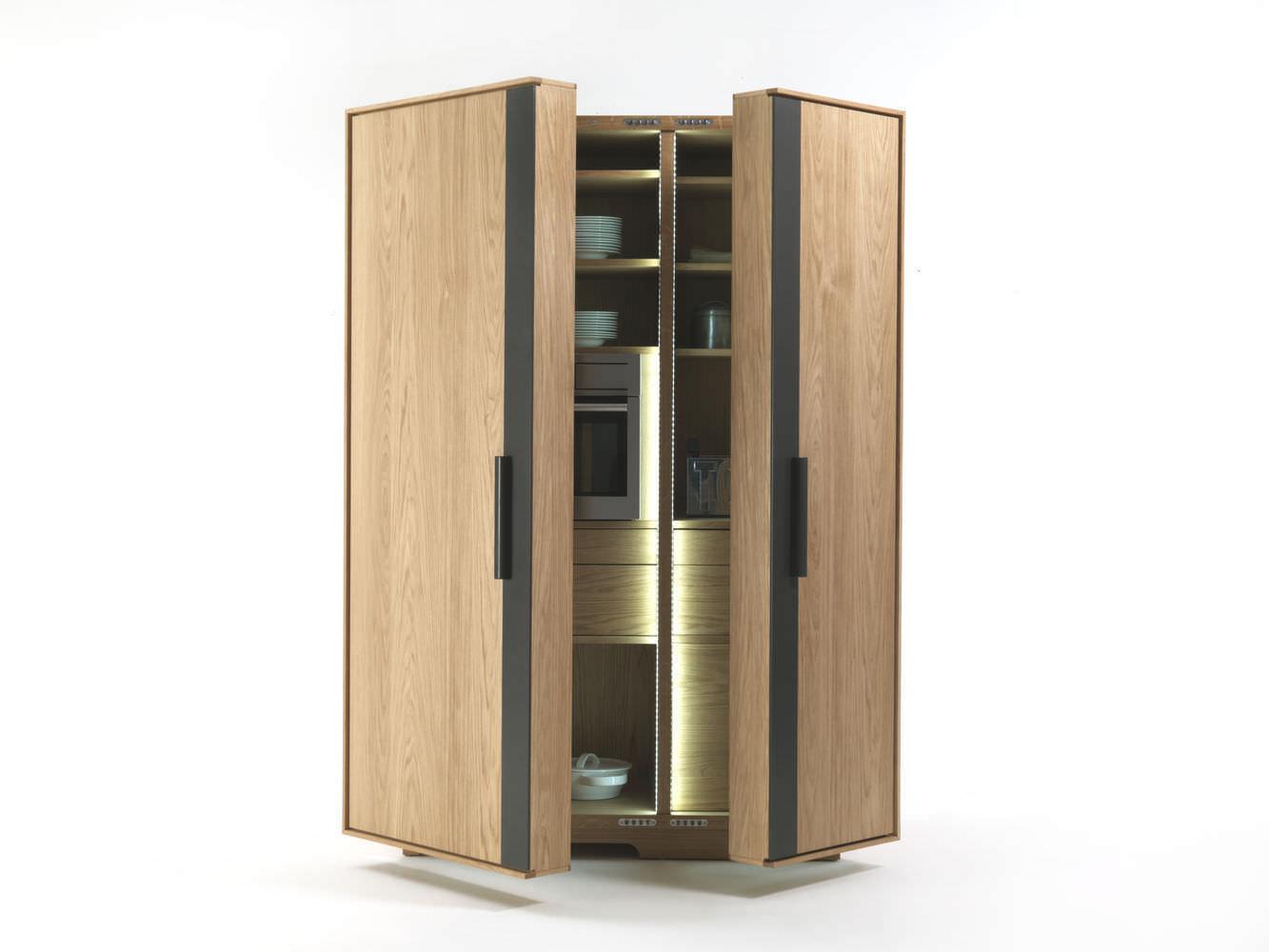 Mobile alto per cucina moderno / in legno - CAMBUSA by Giuliano ...