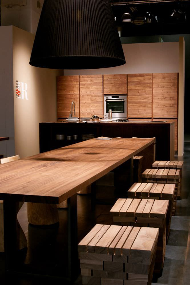 Cucina moderna / in legno massiccio / con isola - ONLY-ONE by Terry ...