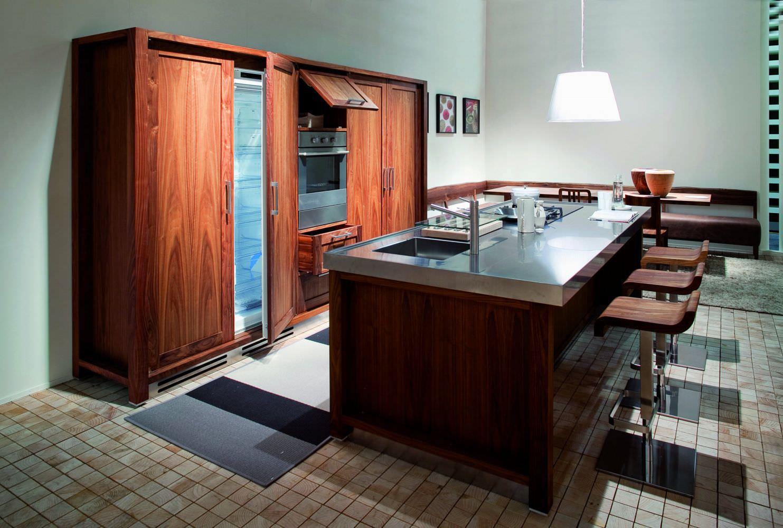 Cucina moderna / in acciaio inox / in pietra / in legno massiccio ...