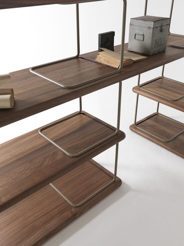 Scaffale moderno / in legno massiccio / in metallo - TUBULAR by ...